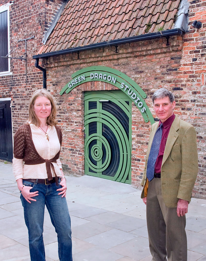 Bethan Griffiths and Chris Topp of The Ironwork Studio - blacksmiths, architectural metalwork experts and designers