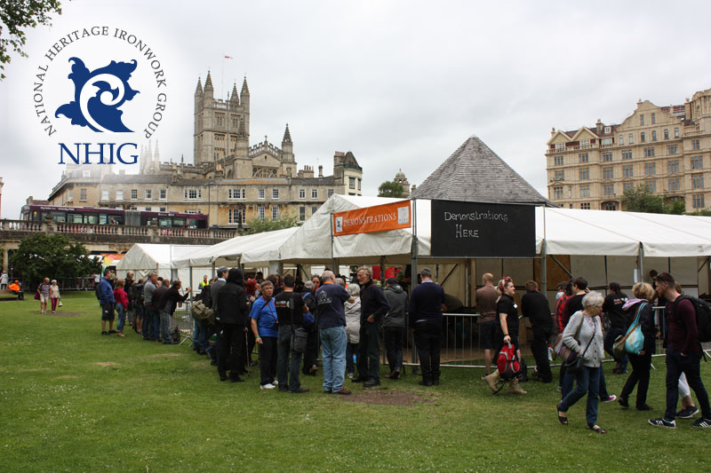 National Heritage Ironwork Group forging event in Bath, England
